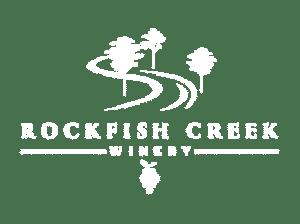 White Logo for Rockfish Creek Winery
